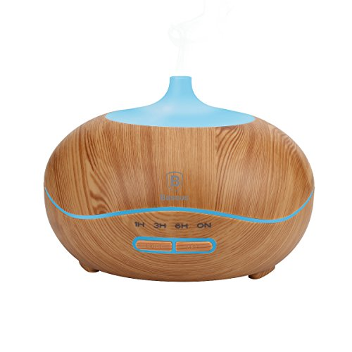 Aroma-DiffuserBaseus-Essential-Oil-Diffuser-300ml-with-Adjustable-Mist-Mode-Waterless-Auto-Shut-off-and-7-Color-Changing-LED-Lights-Portable-for-Home-Baby-Office-Wood-Grain