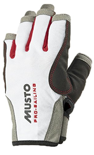 Musto Essential Sailing Short Finger Gloves WHITE AS0813 Sizes- - ExtraLarge