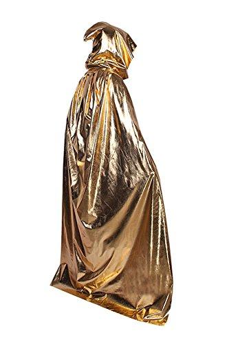 Gold Cape Kostüm - Joyplay Halloween Umhang Cape mit Kapuze
