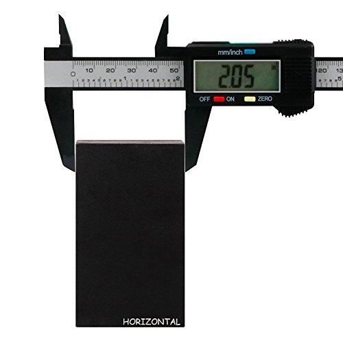 HORIZONTAL Carbonfaser Digitaler Messschieber 150 mm Digitaler Messschieber Fuß metrischem Messschieber Schieblehre Mikrometer LCD Umwandlung Vernier