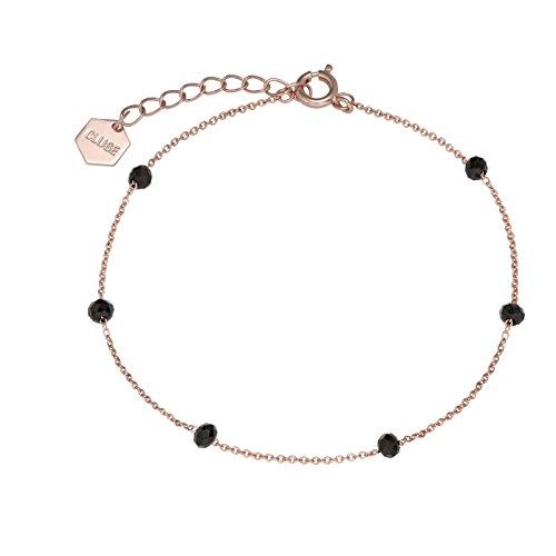 Cluse Damen-Kettenarmband Messing Kristall CLJ10013