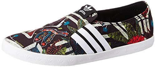 adidas Adria Ps Slip-On, Mocassins Femme Schwarz (Core Black/Ftwr White/Core Black)