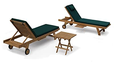 Teak Sun Loungers with Picnic Table set OGD012