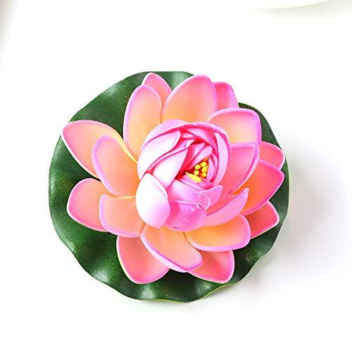 as UV-Beständig Gefälschte Pflanzen Dekor with Lotus Seerose Fischteichs Dekoration Multicolor ()