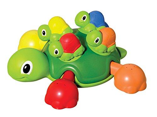 TOMY Schildkrötenfamilie - Bunter Bade- und Lernspaß für Badewanne, Pool und Schwimmbad - Ab 12 Monate