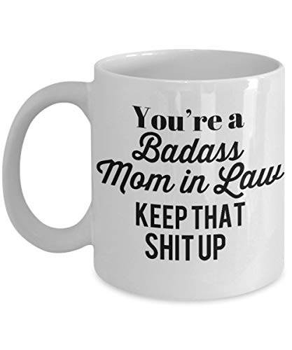 Mom In Law Mug - Dear Mom Mug Kick Punch Thanks for Being My Mom Coffee Cup Mug - Badass MOM IN Law Funny Sarcastic Mother's Day Gift Idea