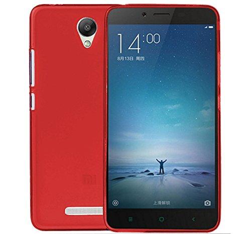 TBOC® Custodia Gel TPU Rossa per Xiaomi Redmi Note 2 - Hongmi Note 2 in Silicone Ultra Sottile e Flessibile