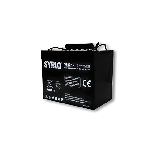 Battery 80Ah 12V AGM Syrio Power Off-Grid Solar System Electric Vehicles M