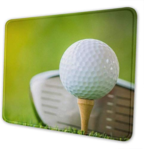Waschbare Mausunterlage - rutschfestes Gaming-Mousepad mit Golfball - 3 mm dick (7,9 x 9,5 in x 0,12 \') - rechteckige Gummimausmatte für Computer/Laptop - 4 verfügbare Größen