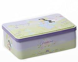 Disney Perfume Set 50ml /1.7 Oz Eau De Toilette Perfume Spray + Mirror + Hairbrush 3 Piece Set for Girls (Princess Jasmine)