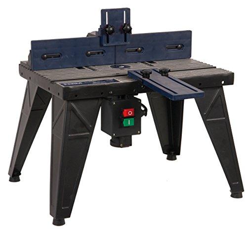 FERM PRA1011 Oberfräsetisch – Mit Staubsaugeranschluss -Verstellbare Winkelführung – Universal: für Oberfräser mit Standfuß bis 162 mm - 3