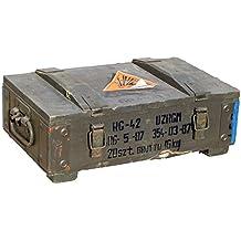 Kleine munititions Caja RG de 42de grosor de pared más de 1cm tamaño tamaño aprox. 48x 31x 16cm, dimensiones interiores 44x 25x 10cm Guardar Militar Caja Munitions Caja de madera caja de madera cajón-estantería manzana caja Shabby Vintage
