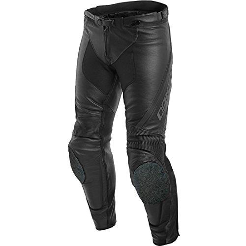DAINESE 1553708_604_48 Pantaloni di Pelle, Nero/Antracite,Taglia 48