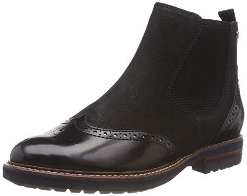 Tamaris Damen 25437-21 Chelsea Boots, Schwarz (Black Nubuc 8), 38 EU