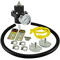 dpPerformance GmbH Universal regulador de presión de Gasolina 0–7Bar Ajustable (Color: Negro)