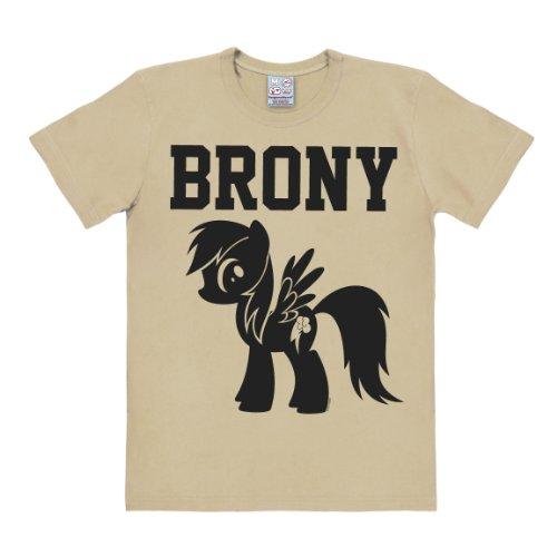 Kostüm Brony (T-Shirt My Little Pony - Brony - Rundhals Shirt von LOGOSHIRT - beige - Lizenziertes Originaldesign, Größe)