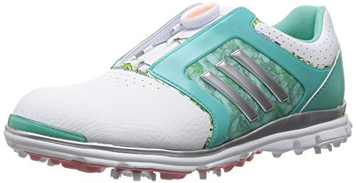 promo code 48f07 d66ef adidas W Adistar Tour Boa – Scarpe da Golf per Donna BIANCO  VERDE