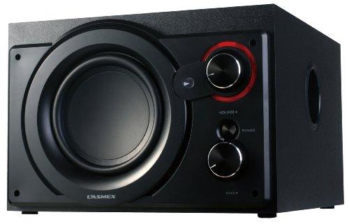 Lasmex S-220 2.1 Stereo-Lautsprecher (2x 10 Watt Satelliten Lautsprecher)