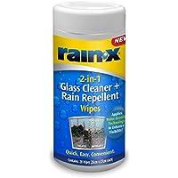 Rain X Lluvia X 88199 Limpiador 2 en 1 Limpiador de Cristal y toallitas Repelente de