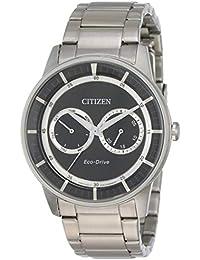 Citizen Eco-Drive Analog Black Dial Men's Watch - BU4000-50E
