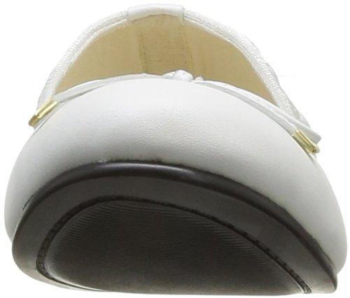 Buffalo London 211-10025-1L SILK LEATHER 1439 Damen Ballerinas Weiß (WHITE)