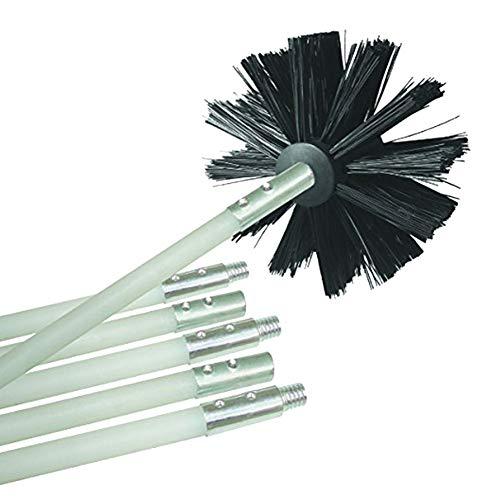 P12cheng cepillo de limpieza para taladro, cepillo limpiador de tuberías de chimenea flexible de nailon...