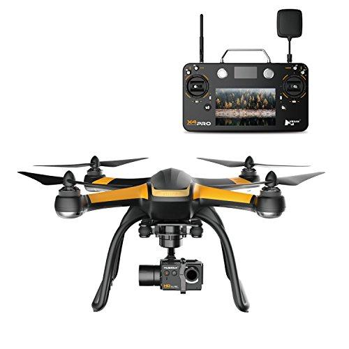 JYZ Drohne Hubsan X4 Pro H109S Quadcopter mit 2MP 1080p FHD Kamera Smart-Fernbedienung mit 7 Zoll Touch LCD 3 Achsen Gimbal RTH Höhe Halten Drohne