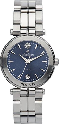 Michel Herbelin Herren-Armbanduhr Newport Yacht Club Analog Quarz Edelstahl 12386/B35