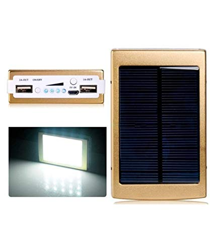 Plinton LED Power Financial institution-20000Mah with Solar Led Charging (Gold) Image 4