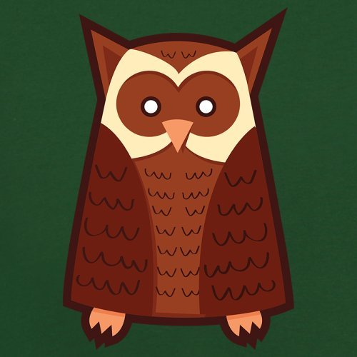 Cute Owl - Herren T-Shirt - 13 Farben Flaschengrün