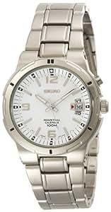 Seiko Hommes SNQ075 Perpetual Calendar Argent montre de ton