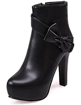 DZW Donne Stivali Tacchi alti in tacco Heels Occasionale Sexy Merletti in su scarpe da piattaforma piatta , 42...