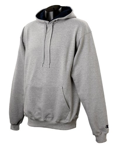Champion 9.7 OZ, 90/10 Cotton Max Pullover Hood OXF GRY/NAVY