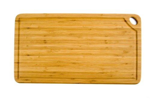 Unbekannt Totally Bamboo BA202258 Rechteckiges Schneidbrett Greenlite mit Saftrille 50 x 27,5 cm, Greenlite (Bamboo-schneidbrett Totally)