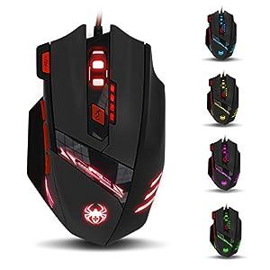 crear pagina web facil: GranVela T90 Zelotes Ratón para Gaming 9200 Ajustable DPI LED Óptico con 8 Botón...