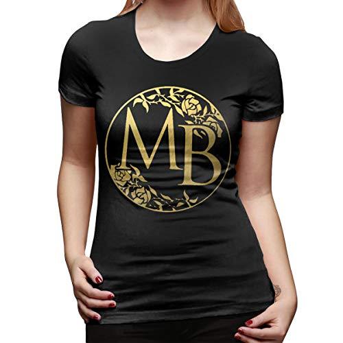Damen T-Shirt Michael Bolton Rundhals Mode Kurzarm T-Shirt Aus Baumwolle Schwarz L