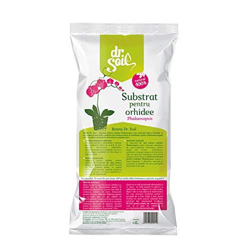 dr. soil terriccio per orchidee 1l - terriccio premium per orchidee di corteccia di pino con 6 mesi di fertilizzante naturale