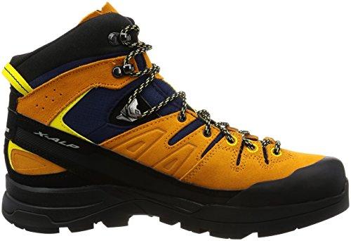 Salomon X Alp Mid LTR GTX Navy Blazer Bright Marigold Empire Yellow Orange