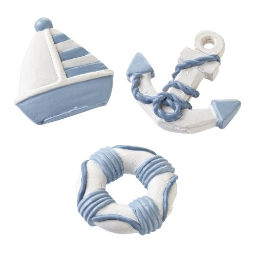 Maritime Streuteile Boot-Anker-Rettungsring ca. 4 cm Btl. a 3 St.