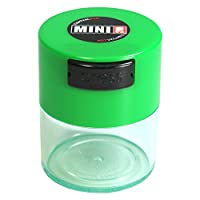 Minivac TV1-CLG - 10g to 30 gram Vacuum Sealed Container Green Cap & Clear Body