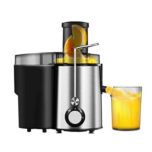 XHHWJJ Spremiagrumi centrifuga Juicer con Bocca Larga, estrattore di Succo a 2 velocità per Frutta e Verdura, Acciaio Inossidabile