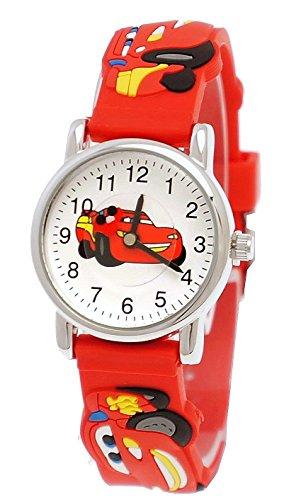 Pure Time Kinderuhr,Silikon Armband Uhr mit Cars Motiv in (Zwei Jungs Halloween Gute Kostüme Für)