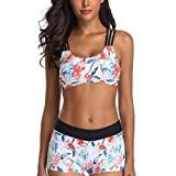 CICIYONER Bikini Set Damen Tankini Sets mit Body Shorts Bademode Push-Up Gepolsterter BH S-5XL