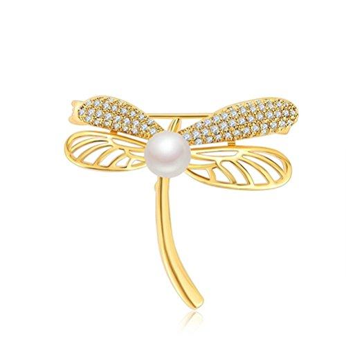 Libelle Kristall Perle Brosche Pin Valentinstag Geschenk für Frauen Lover