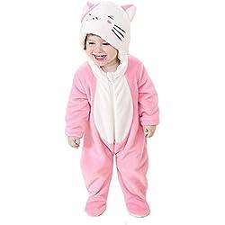 "Tonwhar - Hermoso pelele de animal de caricatura para bebés - Unisex Gatitos Talla:80(Height:26""-29"" /ages 6-12 months)"