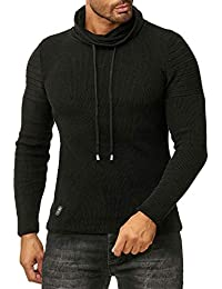 Red Bridge Herren Strickpullover Rollkragen- Pullover Shoulder Lines