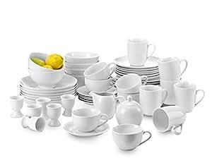 50 piece White Porcelain Dinner Set