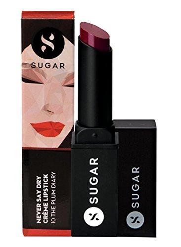 SUGAR Cosmetics Never Say Dry Creme Lipstick, Vibrant Deep Berry, 3.5 g