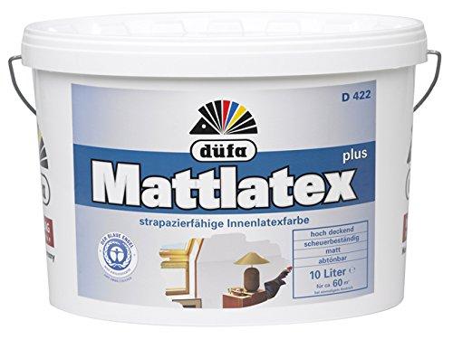 Düfa Mattlatex D 422 / Latexfarbe matt , weiss / schneeweiss / 5 L / für stark beanspruchte Flächen / Malerqualität vom Fachmann'
