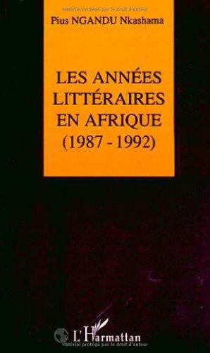 Les années littéraires en Afrique, 1987-1992